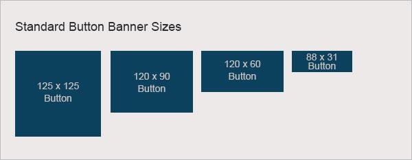 standard button sizes